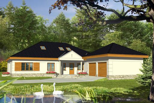 projekt Wiąz II z garażem 2-st. A