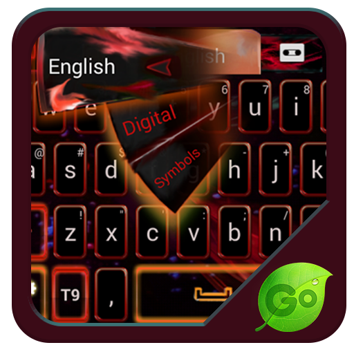 빨간 불꽃 GO 키보드 테마 個人化 App LOGO-硬是要APP