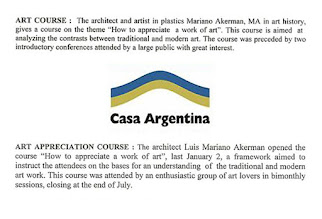 "Photo: ""Art Appreciation Course,"" Casa Argentina Bulletin, 12.1999 and 6.2000 http://mariano-akerman.blogspot.com/2011/08/1999-2000.html"
