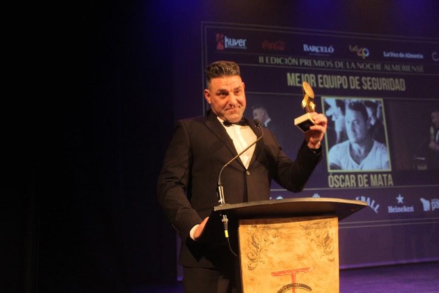 Óscar de Mata, galardonado, durante su intervención tras recibir el Premio.