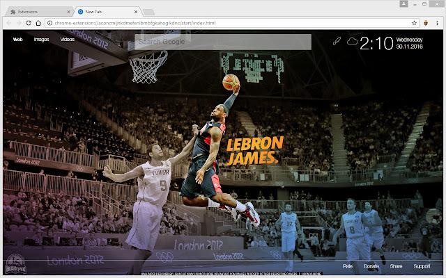LeBron James Wallpaper HD King New Tab