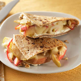Toasted Apple-Cheese Breakfast Sandwiches.
