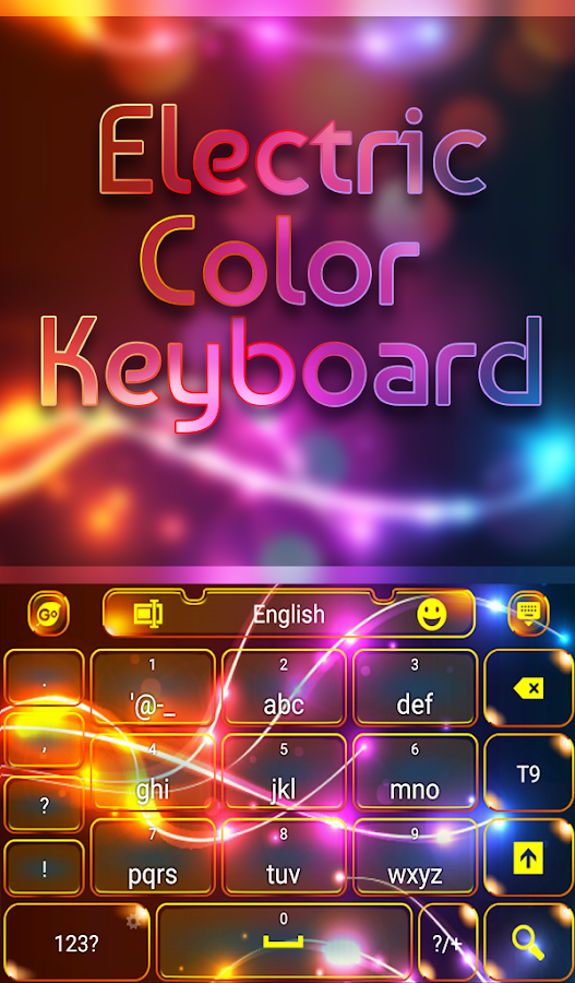 Screenshots of Electric Color Keyboard for iPhone