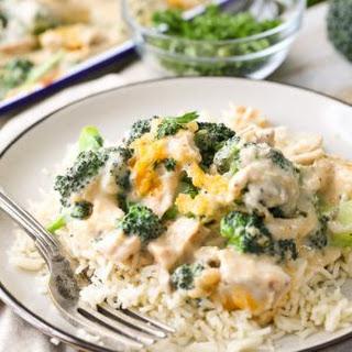 Simple Creamy Chicken & Broccoli Divan.