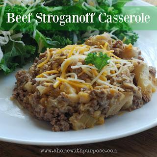 Beef Stroganoff Casserole (S).