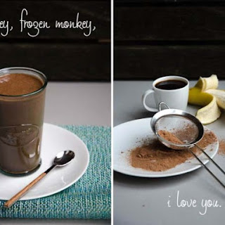 'Frozen Monkey' Coffee Chocolate Banana Smoothie.