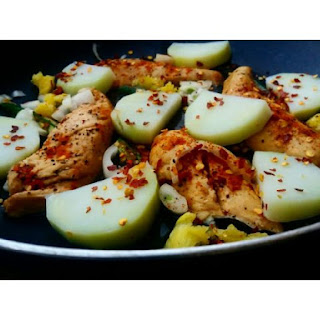 ~ Pan Fried Chicken Breast Fillets With Potato Slices. ~