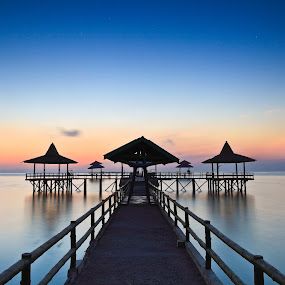 Tranquility by Handi Laksono - Landscapes Waterscapes ( dawn, blue hour )