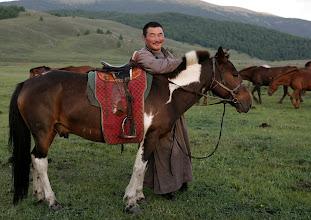 Photo: Mongol lovas mosoly