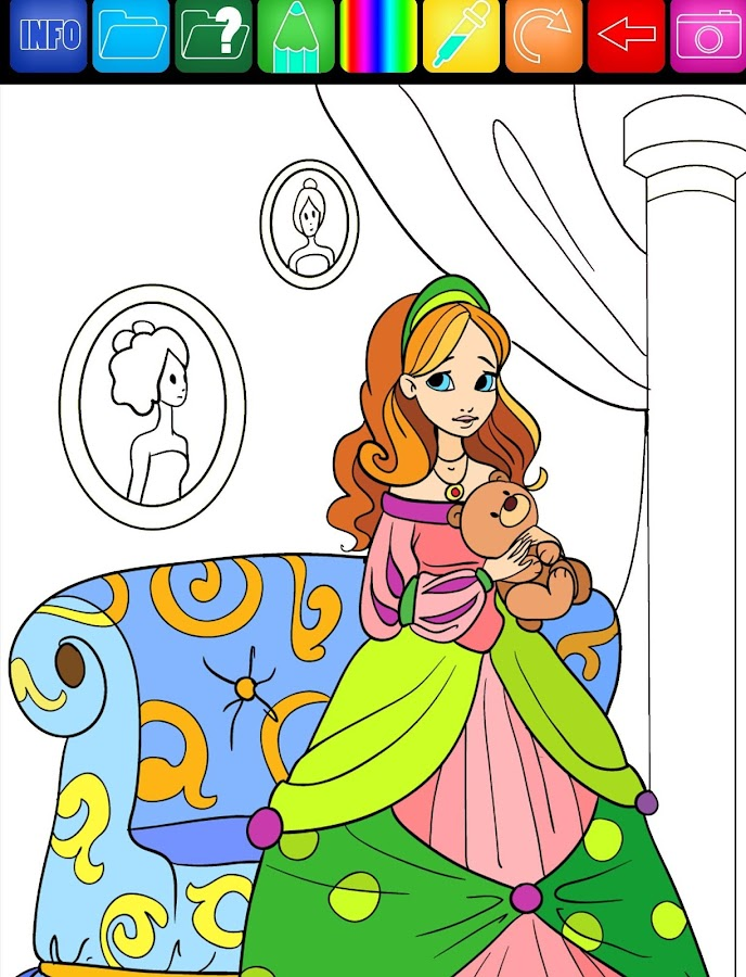 coloring book screenshot - Colouring Books For Children