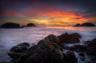 Photo: New Found Crush San Francisco, CA. 2011.  My first outing with a set of Lee GND filters (the holder arrived on friday!), I met +Barry Blanchard, +Joe Azure, and +Chris Chabot at Sutro baths last night. +Joe Azure gave me a crash course on how he uses his filters to balance the scene, and even though I made some rookie mistakes (like thinking i was using a 3 stop filter when I was really using a 1 stop filter), I still managed to get this image.  I think I have a new crush, sunsets, filters, and tripods. Good thing I live near the ocean.  Tech Spec: 5s @ f11 ISO 100 (16mm), 3 Exposure HDR in photomatix.