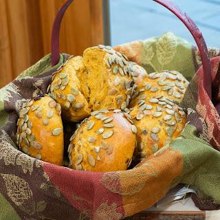 Pumpkin Rolls with Pumpkin Seeds.