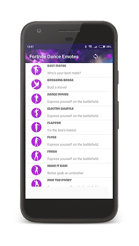 Dances from Fortnite (Dance Emotes) Android App Screenshot