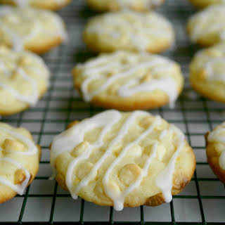 Lemon-White Chocolate Chip Soft-Baked Cookies.