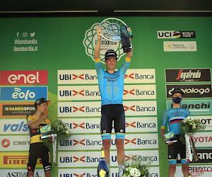 podium Ronde van Lombardije George Bennett Jakob Fuglsang Aleksandr Vlasov