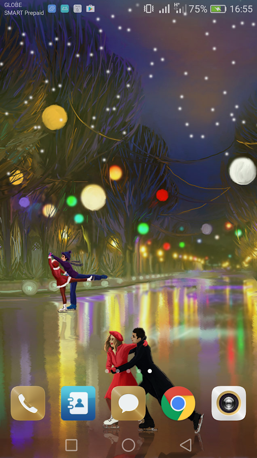 Christmas Rink Live Wallpaper- screenshot