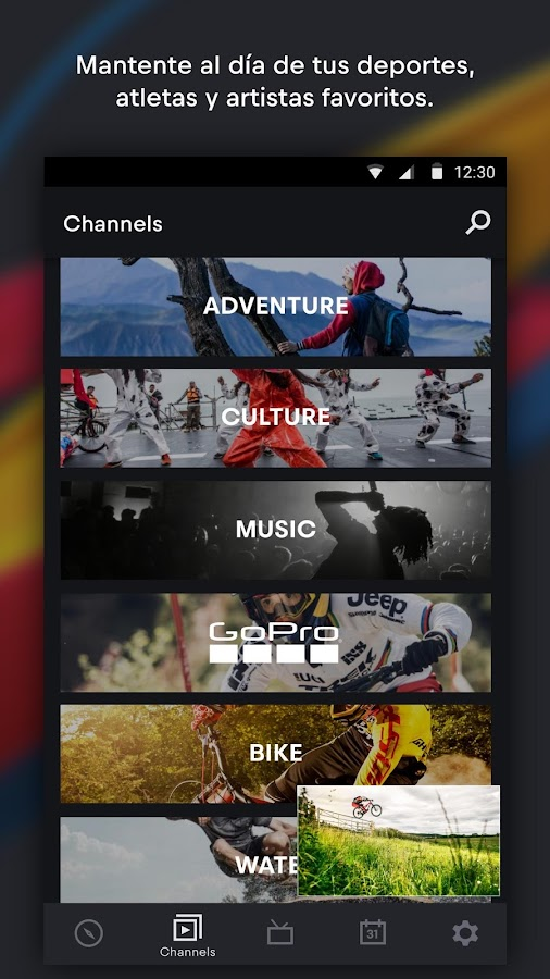 Red Bull TV: Deportes, música y recreación en vivo: captura de pantalla