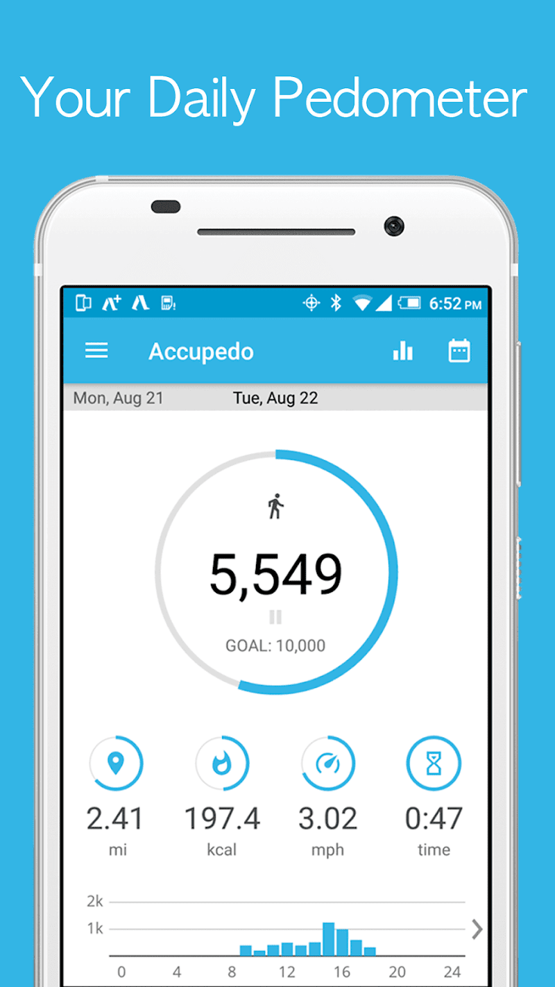 Accupedo-Pro Pedometer - Step Counter Screenshot
