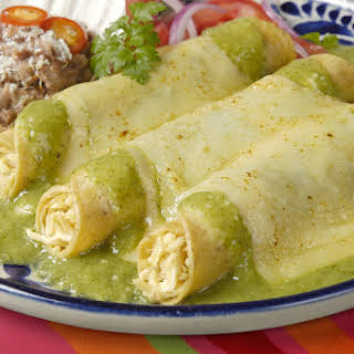 Green Chili & Chicken Enchilada's Are Our Favorite… We've Already Had Them Twice This Week!.