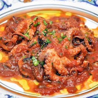 «Polpetielli» affogati (Stewed Baby Octopus).