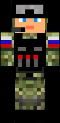 Солдат без маски красный