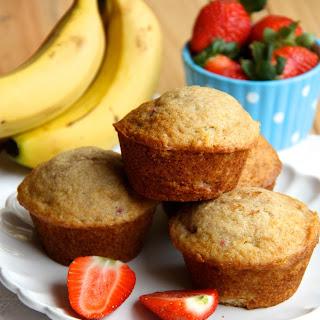 Banana Strawberry Muffins.