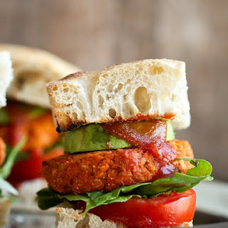 Smoky Barbecue Sweet Potato Chickpea Burgers