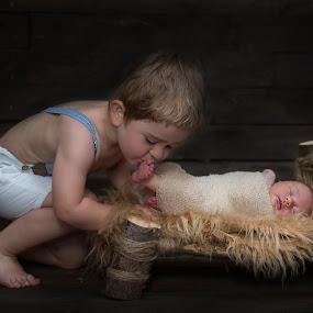 Brother love by Piotr Owczarzak - Babies & Children Children Candids ( bed, childhood, children, boys, cute )