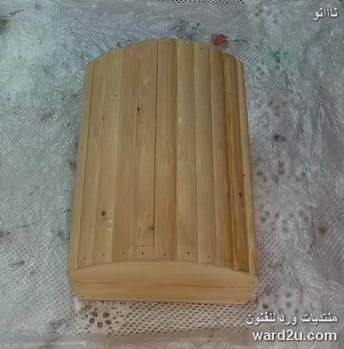 ديكوباج مسطح و تزيين صندوق خشب