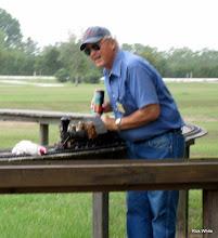 Photo: Dennis Cranston running his Gauge 1 steamer.     HALS 2009-0919