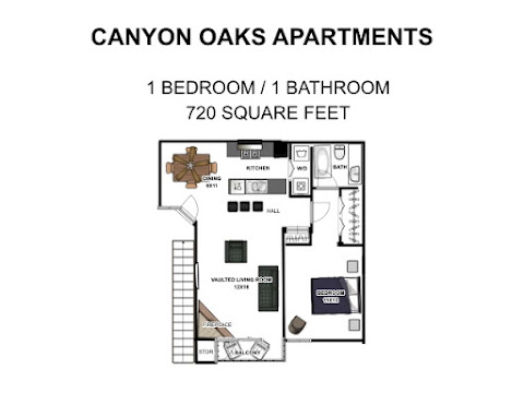 Bed, 1 Bath  Canyon Oaks Apartments San Antonio, TX
