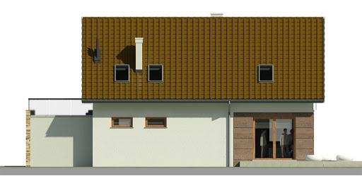 Dom przy Alabastrowej 24 - Elewacja tylna