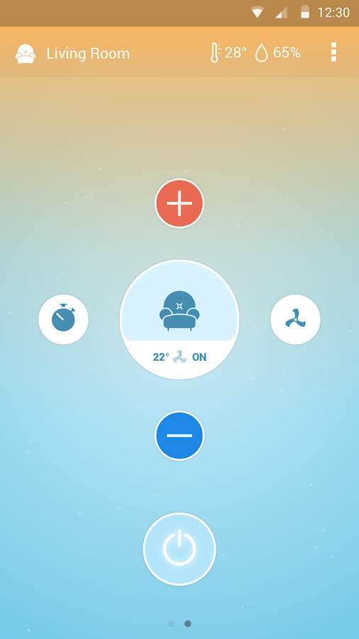 Screenshots of Sensibo for Android