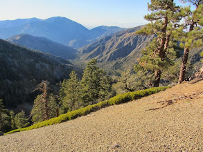 Photo: Late afternoon view west on North Backbone Trail