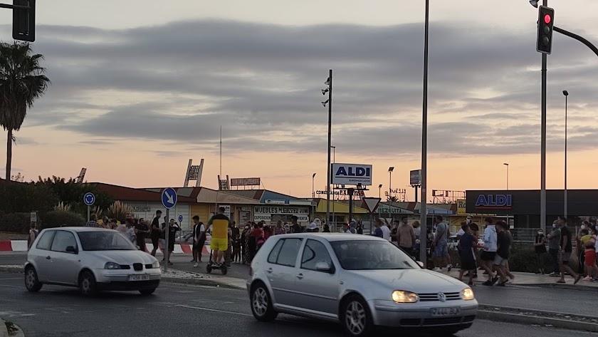 Protesta en El Puche