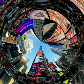 Times Square  by Georgios Kalogeropoulos - Digital Art Places ( times square, digital art, manhattan, colorfull, new york )