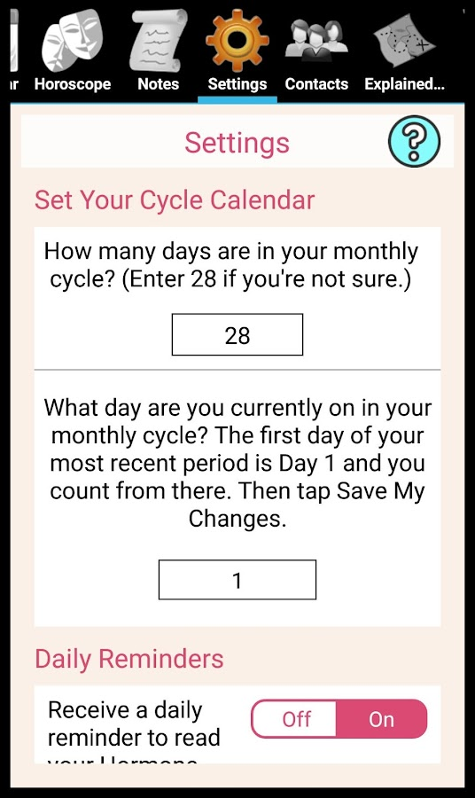 Hormone Horoscope Lite- screenshot