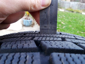 Photo: Center of tire pictured