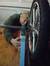 Photo: Matt checking out the disc brake mount.