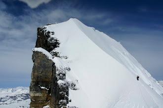 Photo: Starting up the ridge.