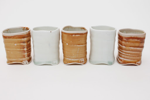 Sandy Lockwood Set of 5 ceramic cups entitled 'Square'
