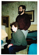 Photo: MTS - 1987 Winter ski trip, (l to r) Shifrah Nenner and Jeff Ogden
