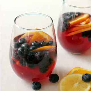 Blueberry Sangria.
