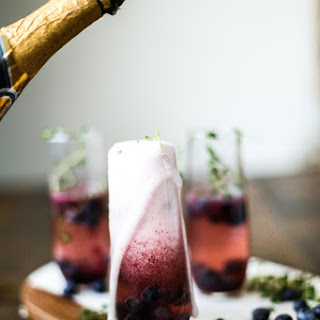 Blueberry Thyme Champagne Smash