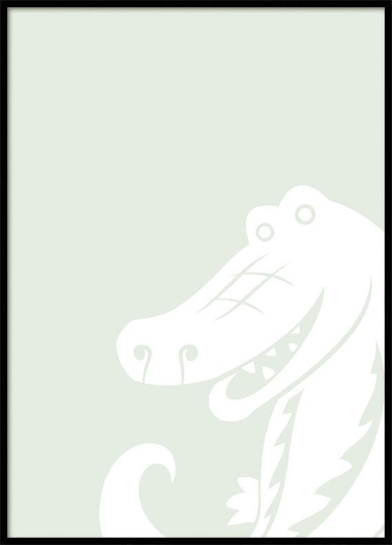 Krokodil Barnposter