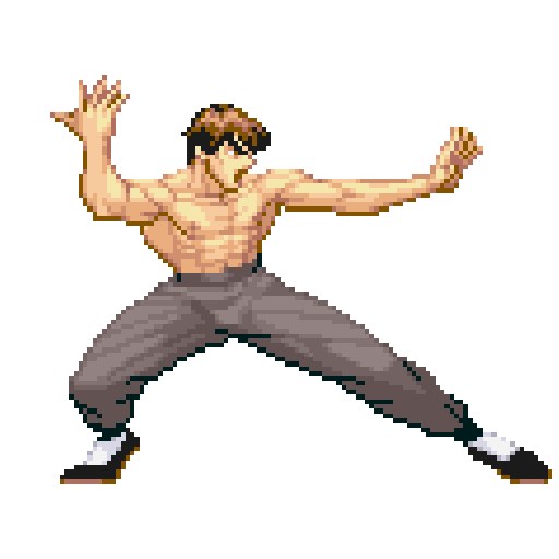 Color by Number - Street Fighter Sandbox Pixel