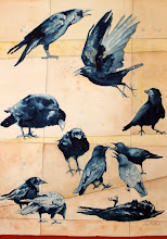"Photo: Murder of Crows. watercolor. 24""x30"""