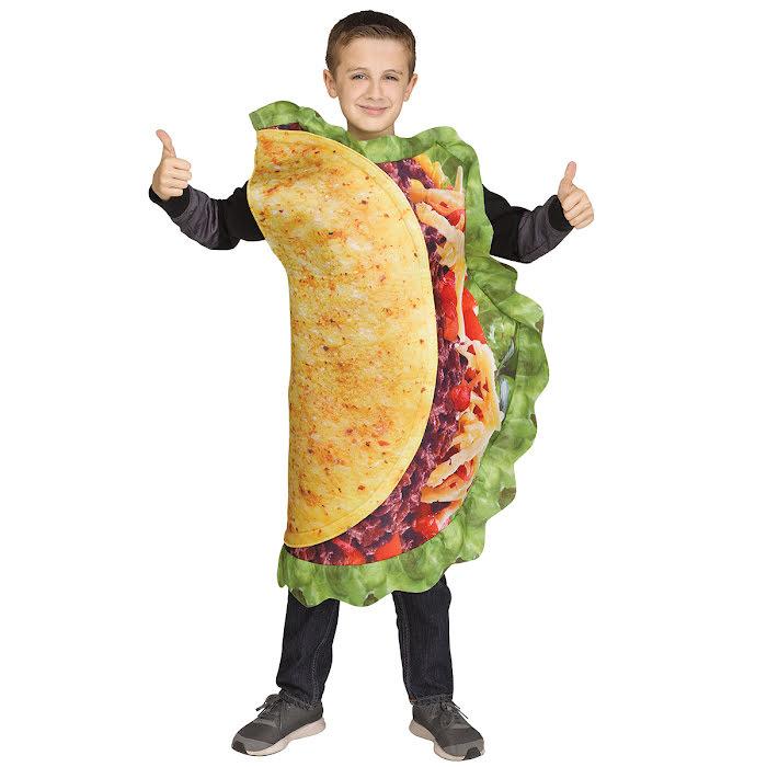 Taco maskeraddräkt för barn