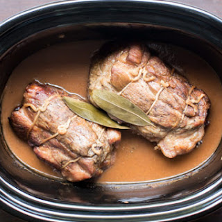 Slow Cooker Cider Braised Pork Roast.