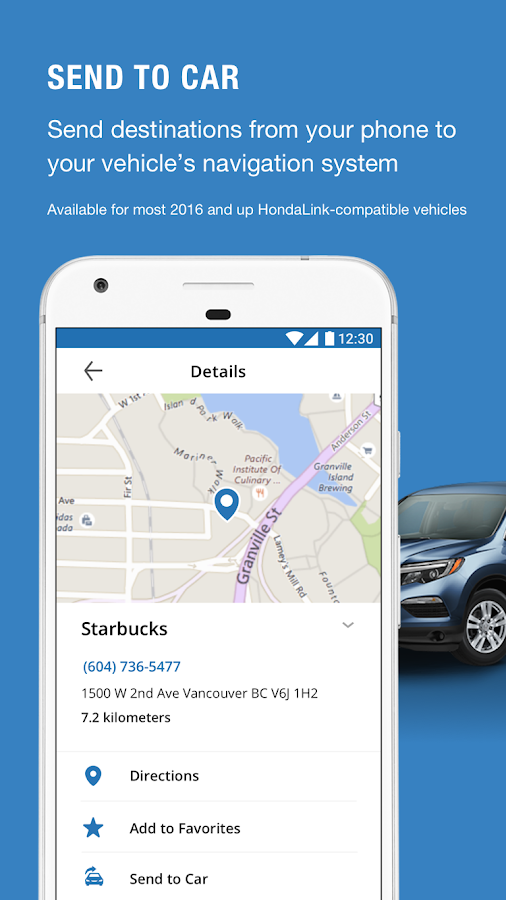 Hondalink android apps on google play for Honda car app
